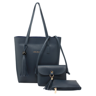 AG00612 - 3 Pieces Set Navy Women's Fashion Handbags