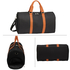AGT0020 - Black / Brown Weekend Duffle Bag