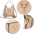 AG00591S - NudE Drawstring Tote Bag With Faux-fur Bag Charm