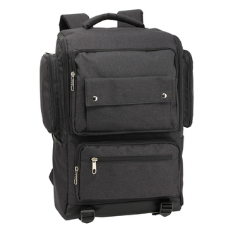 AG00613  - Black Backpack Rucksack School Bag