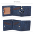 AGP1104 - Navy Trifold Purse / Wallet With Charm
