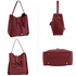 AG00591M - Burgundy Drawstring Tote Bag With Pouch