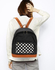 AG00620B - Black Polka Dot Print Backpack School Bag