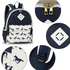 AG00619B - Navy Horse Print Backpack School Bag