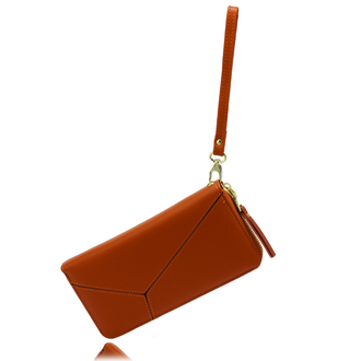 AGP5011 - Brown Women's Zip Around Purse / Wallet