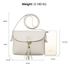 AG00597 - Light Grey Flap Cross Body Tassel Shoulder Bag