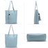 AG00612 - 3 Pieces Set Blue Women's Fashion Handbags