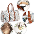 AG00479A - White Butterfly Weekend Duffle Bag