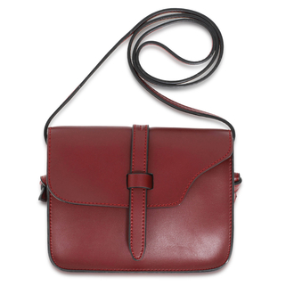 AG00660 - Burgundy Flap Cross Body Shoulder Bag