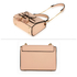 AG00654 - Nude Flap Tassel Cross Body Bag