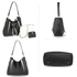 AG00670 - 3 Pieces Set Black / White Women's Fashion Handbags