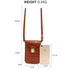 AG00642 - Brown Croc Print Cross Body Shoulder Bag