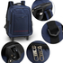 AGT1012  - Navy Travel Backpack Rucksack With Wheels