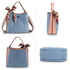 AG00682 - Blue / Nude Women's Fashion Tote Bag