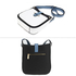 AG00684 - Black / White / Blue Flap Cross Body Shoulder Bag