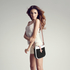 AG00684 - White / Black / Pink Flap Cross Body Shoulder Bag