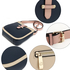 AG00684 - Beige / Navy / Pink Flap Cross Body Shoulder Bag