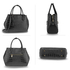 AG00644 - Black Fashion Croc Style Tote Bag