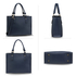 AG00646 - Navy Anna Grace Fashion Tote Bag