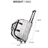 AGT1011A - Blue / White Travel Holdall Trolley Luggage With Wheels - CABIN APPROVED