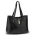 AG00710 - Black Croc Print Tote Bag