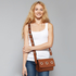 AG00714 - Brown Flap Cross Body Bag
