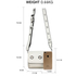 AG00714 - White Flap Cross Body Bag