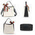 AG00682 - White / Black Women's Fashion Tote Bag