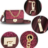 AG00716 - Burgundy Glitter Flap Cross Body Bag