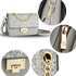 AG00716 - Silver Glitter Flap Cross Body Bag