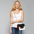 AG00720 - Black / White / Red Flap Style Cross Body Bag
