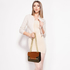 AG00720 - Brown / Tan / Burgundy Flap Style Cross Body Bag
