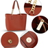 AG00664 - Brown Women Fashion Tote Bag