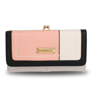 AGP1071A - Pink / Nude Patchwork Purse