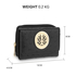AGP5016 - Black Ostrich Skin Effect Purse \ Wallet