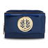 AGP5017 - Navy Patent Purse/Wallet with Metal Decoration