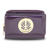 AGP5017 - Purple Patent Purse/Wallet with Metal Decoration