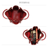 AG00610 - 3 Pieces Set Burgundy Women's Fashion Handbags