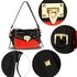 AG00722 - Black / Red Cross Body Flap Shoulder Bag