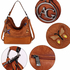 AG00556A - Brown Butterfly Hobo Bag With Black Metal Work