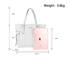AG00752P - White Anna Grace Print Women's Large Tote Bag