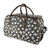 AGT1010D - Black Butterfly Travel Holdall Trolley Luggage With Wheels - CABIN APPROVED