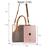 AG00740 - Brown Anna Grace Print Women's Fashion Handbag With Gold Metal Work