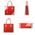AG00742 - Red / Pink  Anna Grace Fashion Tote Handbag