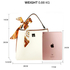 AG00682A - White / Pink Women's Fashion Tote Bag With Scarf