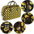 AGT1013 - Black Emoji Print Travel Holdall Trolley Luggage With Wheels - CABIN APPROVED
