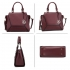 AG00764A - Burgundy Women's Fashion Wholesale Tote Shoulder Bag