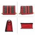 AG00774P - Red Anna Grace Print Flap Wholesale Cross Body Shoulder Bag