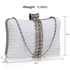 LSE0049 - Wholesale & B2B Gorgeous White Crystal Strip Clutch Evening Bag Supplier & Manufacturer
