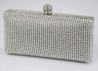 LSE0075- Sparkly Crystal Evening Clutch Bag